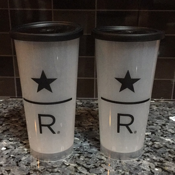 Starbucks Reserve Plastic Cups With Black Lid 2
